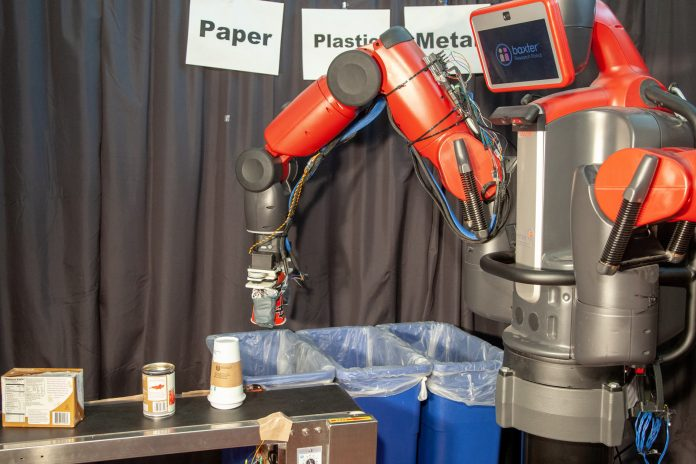 MIT robot sorts trash and recycling material by simply touching it