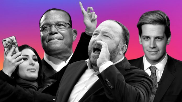 Louis Farrakhan, Alex Jones and other violent voices on social media are banned by Facebook and Instagram